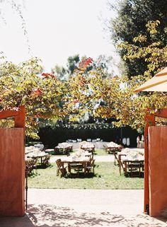 A blue and aqua + short sleeves wedding dress for a sophisticated garden wedding   Photo by Caroline Tran   Read more on sodazzling.com #gardenwedding #weddingblog  งานแต่งงาน ในสวน