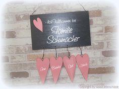 Weiteres - Türschild mit Herzen - ein Designerstück von Liebesschild bei DaWanda