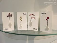 June marks the start of the new annual catalogue, to mark the occasion I will be show casing a few of the new catalogue stamp sets, the first of these is Varied Vases. Show Case, Vases, Stampin Up, Place Card Holders, Crafts, Crafting, Jars, Diy Crafts, Craft