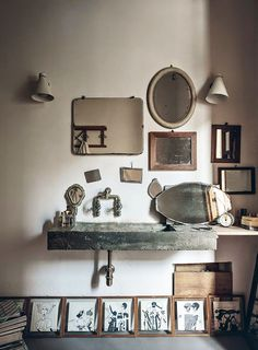 european home with collection of vintage mirrors / sfgirlbybay