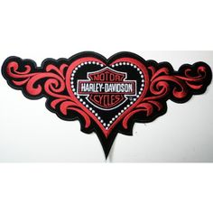 Harley Davidson big patches Motorcycle biker with lady heart Embroidered Iron on Patch 28×14 cm | bikeraa.com  http://bikeraa.com/harley-davidson-big-patches-motorcycle-biker-with-lady-heart-embroidered-iron-on-patch-28x14-cm/
