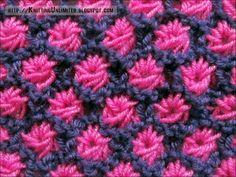 Aster Flower Knitting Stitch ||| Funky Air Bear