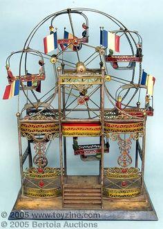 Antique German toy ferris wheel