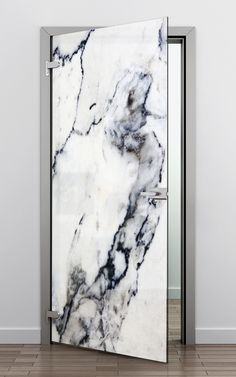 Printed marble glass door by CONCEPT/GLASS