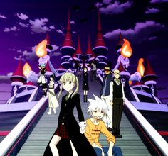 This is actually from soul eater not, it's from a different perspective at the DWMA