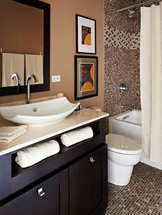 Is your home in need of a bathroom remodel? Here are Amazing Small Bathroom Remodel Design, Ideas And Tips To Make a Better. Bathroom Countertops, Bathroom Inspiration, Bathroom Color, Bathroom Decor, Bathroom Redo, Small Bathroom Remodel, Bathrooms Remodel, Bathroom Makeover, Home Decor
