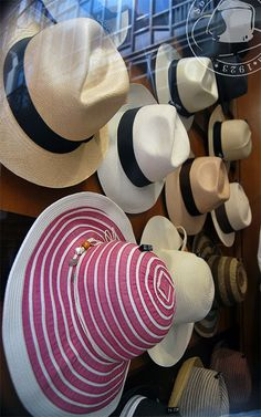 Panama Hats. A must for every holiday in the sun.