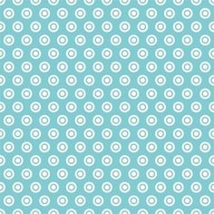 Alpine Fabrics House Designer - Basics - Circle Dot in Aqua
