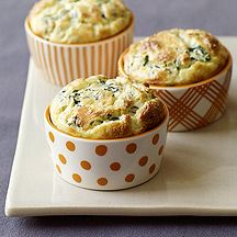 Serve this Individual Spinach Soufflés #recipe as a starter at your next dinner party. Or as a side dish to steak and roasted potatoes for a fantastic, at-home, steakhouse-worthy meal. #WWLoves