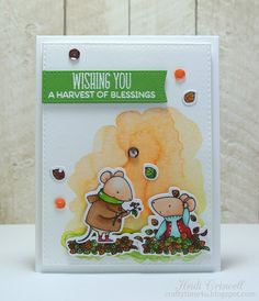 Crafty Time 4U card using My Harvest mouse stamp by Favorite Things Stamps #fall