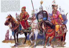 Golden Horde Kipchak or Cuman steppe warriors