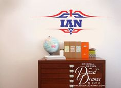 Vinyl Wall Decal  Captain America Boys Name by DecalDrama on Etsy, $25.00