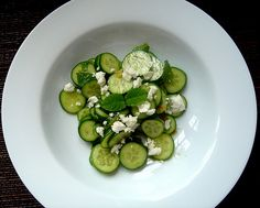 Agourosalata - cucumber with feta and mint