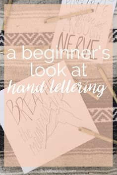 Take a look at Abigail's process for developing her hand lettering practice. She shares her favorite tools, and resources like videos, tutorials, classes and free printables. Give hand letter…