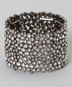 Silver Rhinestone Sparktacular Stretch Bracelet