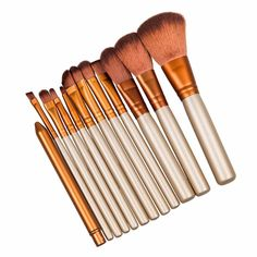 12pcs makeup brushes make up brush set for beauty blush contour foundation cosmetics NK3 brushes without box