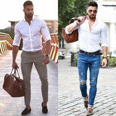 mens street style looks with chinos   jeans  virileman5 Párizsi Divat 8d905a280d