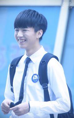 His smile makes me feel happy
