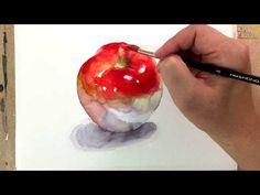 Watercolor Painting Tutorial - Apple / 사과 그리기 수채화 - YouTube