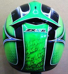 Shark custom painted helmet #165 ~ Hand Painted Helmets - Design your helmet today..!!