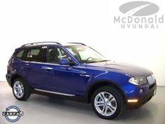 USED 2008 BMW X3 3.0si AWD 4dr SUV  Price:$25,593  exterior: Montego Blue Metallic  interior: Black  engine: 3.0L I6 DOHC 24V  transmission: Automatic  model code: 0865  stock number: HT8WJ19588  vin: WBXPC93408WJ19588  mileage: 38,206  http://www.mcdonaldhyundaidenver.com/VehicleDetails/used-2008-BMW-X3_3.0si-AWD_4dr_SUV-Littleton-CO/1737151843