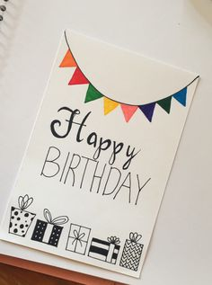 DIY Birthday Cards Ideas Effective Images We Make About Birthday Card . - DIY Birthday Cards Ideas Effective pictures that we offer by handprinting birthday cards A quality - Creative Birthday Cards, Homemade Birthday Cards, Birthday Cards For Friends, Homemade Cards, Happy Birthday Handmade Cards, Simple Birthday Cards, Happy Birthday Gifts, Husband Birthday Cards, Birthday Cards To Make