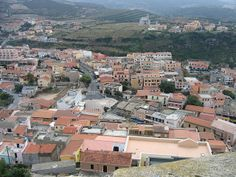 Castelsardo - from the top of the castle at Castelsardo, Sardinia, looking down on the town.