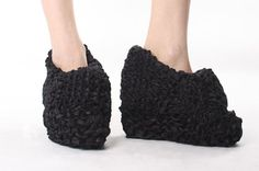 Seriously WHAT ARE THESE MADE OF... CROCHETED???PAPER??...ugly shoes