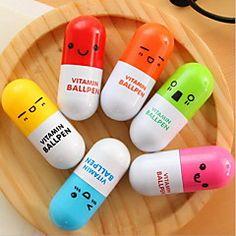 Penna Penna Penne a sfera Penna,Plastica barile Colori casuali Colori inchiostro For Materiale scolastico Attrezzature da ufficio