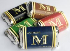 Mini Candy Bar Wrapper -Wedding favour, black / red / green /brown / blue, Hershey mini, personalized, printable