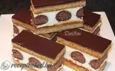 Pöttyös mézes recept fotóval Hungarian Desserts, Hungarian Recipes, No Bake Desserts, Dessert Recipes, Sweets Cake, Food Cakes, Creative Cakes, International Recipes, Cakes And More