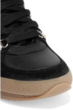 Isabel Marant - Brent Suede, Leather And Canvas Sneakers - Black - FR38