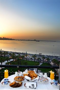 Good Morning Enjoy Your Breakfast Facing The Mediterranean Sea at Le_Metropole Hotel Alexandria Egypt What a remarkable place, not the grandest hotel in Egypt, but definitely the most special