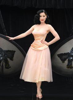 ae2b370c2895 evening pink dress dita von teese Dita Von Tease