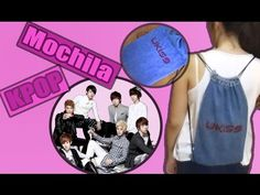 DIY: Mochila / bolsa KPOP | Pinku & Blaqui - YouTube