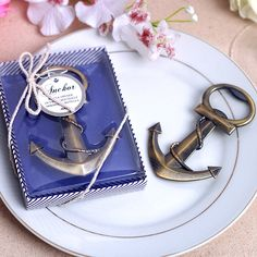 473e0502fde28c 50 Black Bronze Anchor Openers (gift boxes) - Bottle Opener - Beach Sea Wedding  Party