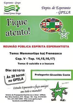 GPELA Convida para a sua reunião pública Espírita Esperantista – Bangu – RJ - http://www.agendaespiritabrasil.com.br/2015/10/03/gpela-convida-para-a-sua-reuniao-publica-espirita-esperantista-bangu-rj-2/