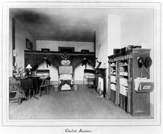 Millar and Burr's Cadet room, U.S. Military Academy, West Point, New York, class of 1882.