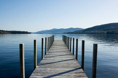 to the edge of the dock, in the middle of lake george #ridecolorfully
