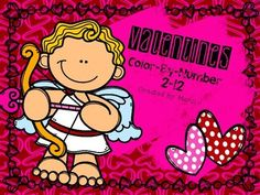 Valentines Multiplication Color-By-Number