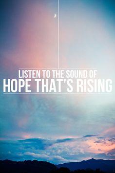 ....hope is rising.