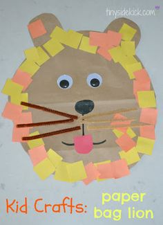 Kid Craft {Paper Bag Lion}