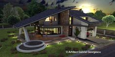 Luxury Villa Inspired From Macedonia – Amazing Architecture Magazine Small House Interior Design, Country House Design, Duplex House Design, Dream Home Design, Home Design Plans, Modern House Design, House Plans With Pictures, House Design Pictures, Style At Home