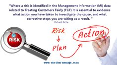 #Risk identified #MI #ManagementInformation in trating customers fairly #TCF evidence actions