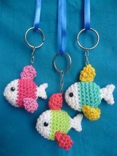 Crochet fish keychain