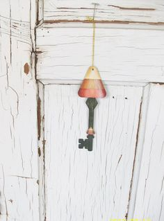Halloween Hand Painted Candy Corn Key Ornament by ToletallyPainted, $9.00