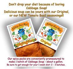Cabbage Soup Diet Seasonings