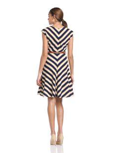 Louisville Slugger - Vestido a rayas sin mangas para mujer, talla 42, color azul marino/crema: Amazon.es: Ropa y accesorios