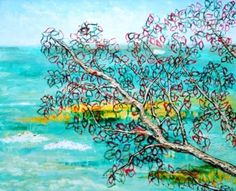 TRANSPARENT LEAVES'S BRANCHES (Ramas de hojas transparentes) 48x43 cm = 19x17 in - ASK FOR PRICE (Pregunta precio)