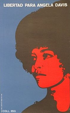"""Libertad para Angela Davis"" by Felix Beltrán, 1971 (Cuba)"